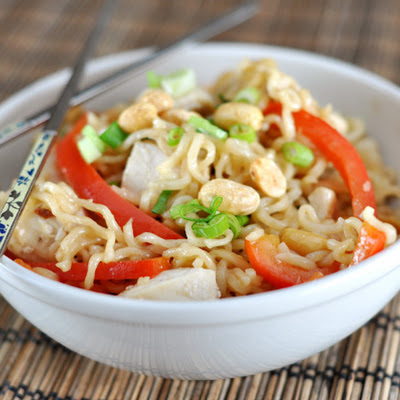 Kicked Up Ramen Noodles – Kung Pao Style