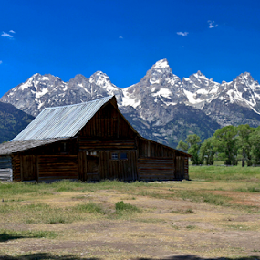 by Gerard Pascazio - Buildings & Architecture Other Exteriors ( architecture, grand tetons, moulton barn )