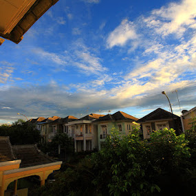 Great View From Home by Valdy Prawhesmara - Buildings & Architecture Homes ( home sky house blue morning clear beauty )