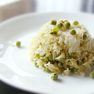 Basmati Rice and Pea Pilaf (Peas Pulao)