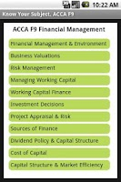 Screenshot of ACCA F9 Financial Management