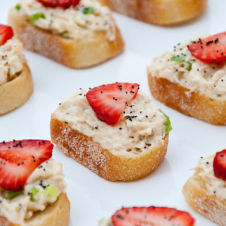Chicken Salad Crostini with Strawberries