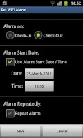 Screenshot of WiFi Alarm