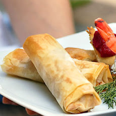 Cheese, Herb, and Sun-Dried Tomato Phyllo Rolls