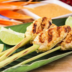 Minced Chicken Satay with Chili Coconut Spice Sauce