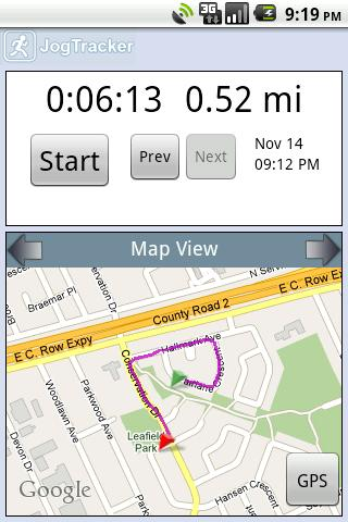 jogtracker-classic for android screenshot