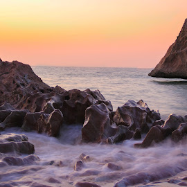 An Evening  by Meer Baloch - Landscapes Beaches ( nature, colors, long exposure, seascape, light,  )