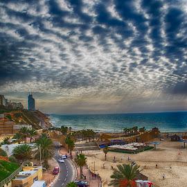 Netanya Promenade by Marina Klebanova - City,  Street & Park  Street Scenes ( promenade, netanya, sea )