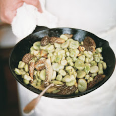 Morels and Broad Beans