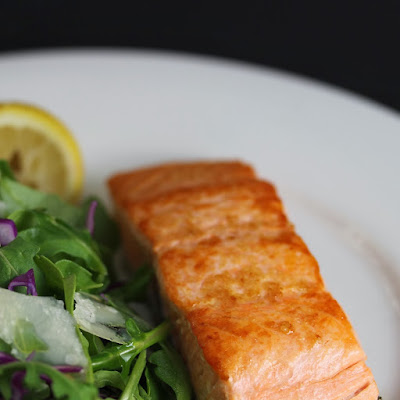 Pan-fried Salmon with Arugula Salad