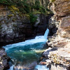 Rockin' Waterfall  by Denver Pratt - Landscapes Waterscapes (  )