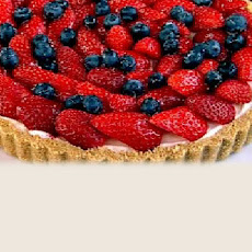 Skinny Strawberry And Honey-cream Tart