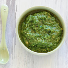 Spicy Cilantro–Marcona Almond Pesto