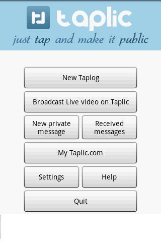 Taplic - photo video gps blog