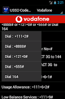 Screenshot of USSD Codes India
