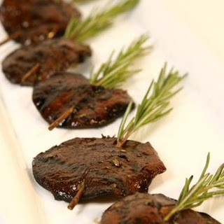 Grilled Shiitake Mushrooms on Rosemary Skewers