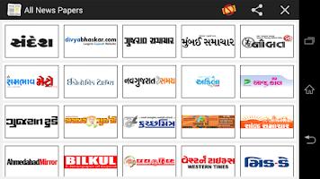 Screenshot of All Gujarati News Paper India