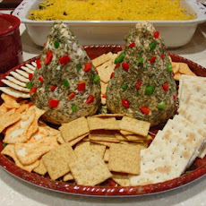 Appetizer Cheese Trees or Snowmen