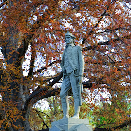 General Paine by Doyt Cox - City,  Street & Park  City Parks ( statue, charter oak, ohio, doyt, painesville,  )