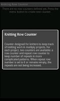 Screenshot of Knitting Counter