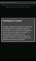 Screenshot of Knitting Counter