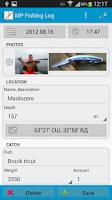 Screenshot of MP Fishing Log
