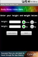 Screenshot of Body Mass Index Calc