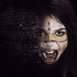 Primal by Chrystal Olivero - Digital Art People ( potrait, fine art photography, disintegration, conceptual, manipulation )