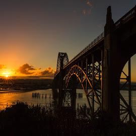 Sunrise by Christian Flores-Muñoz - Buildings & Architecture Bridges & Suspended Structures