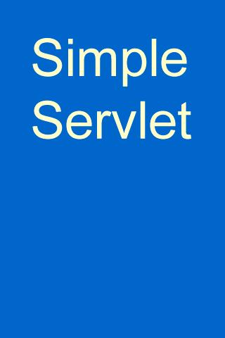 Simple Servlet