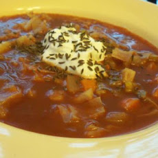 Hungarian Vegetarian Cabbage Soup