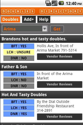 T T Doubles Vendor Directory