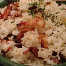 Rice Cooker Bacon and Onion Rice