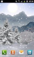 Screenshot of Winter Snow Xmas LWP Free