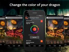 Screenshot of UR 3D Dragon Cave Live Theme
