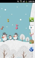 Screenshot of HAPPY SNOWMANS Theme