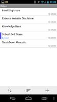 Screenshot of TouchDown for Smartphones