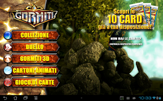 Screenshot of Gormiti Digital Card