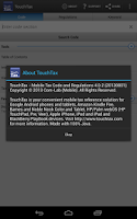 Screenshot of Tax Code and Regs - TouchTax