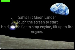 Screenshot of Touch and Tilt Moon Lander