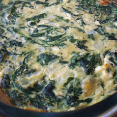 Spinach Ricotta Pie with a Hint of Feta