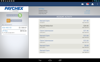 Screenshot of Benefit Account