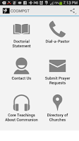 Screenshot of COGMPGT Mobile App