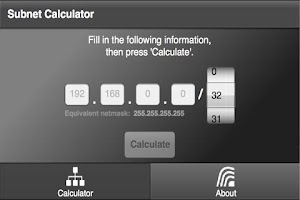 Screenshot of Subnet Calculator