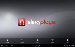 Screenshot of Slingplayer for Tablets
