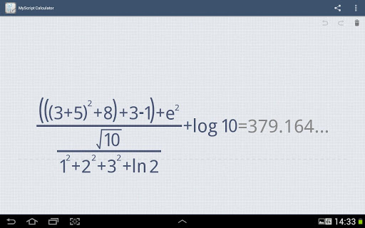 myscript-calculator for android screenshot