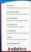 Screenshot of Dizionario Italiano
