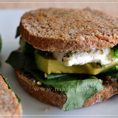 Spinach, Avocado, and Goat Cheese Sandwich