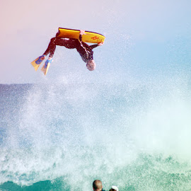Mitch Rawlins  by Michael PhotoTraeger - Sports & Fitness Surfing ( water, color, fly, launch, landscape, bb, towins, flew )