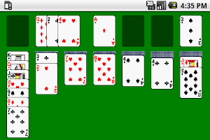 Screenshot of solitaire card game